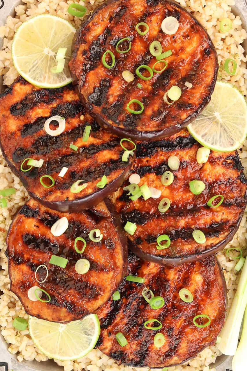 Sweet Spicy Grilled Eggplant