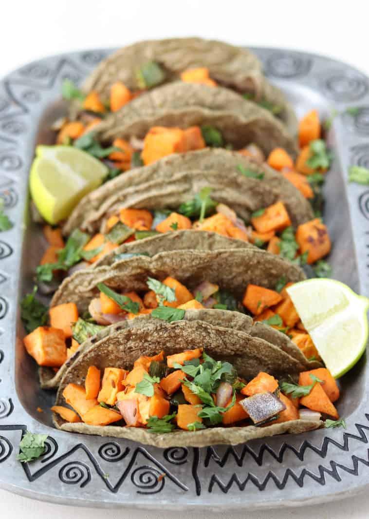 sweet potato tacos closeup