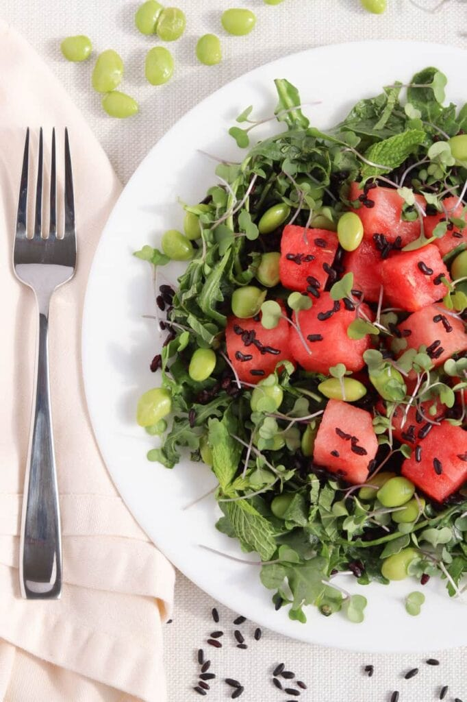 Watermelon Forbidden Rice Salad