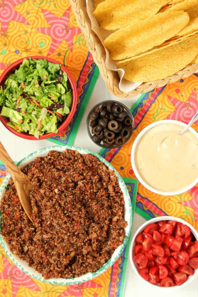 Kid-friendly Red Quinoa Tacos