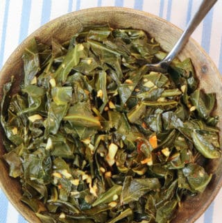 Quick Easy Vegan Collard Greens