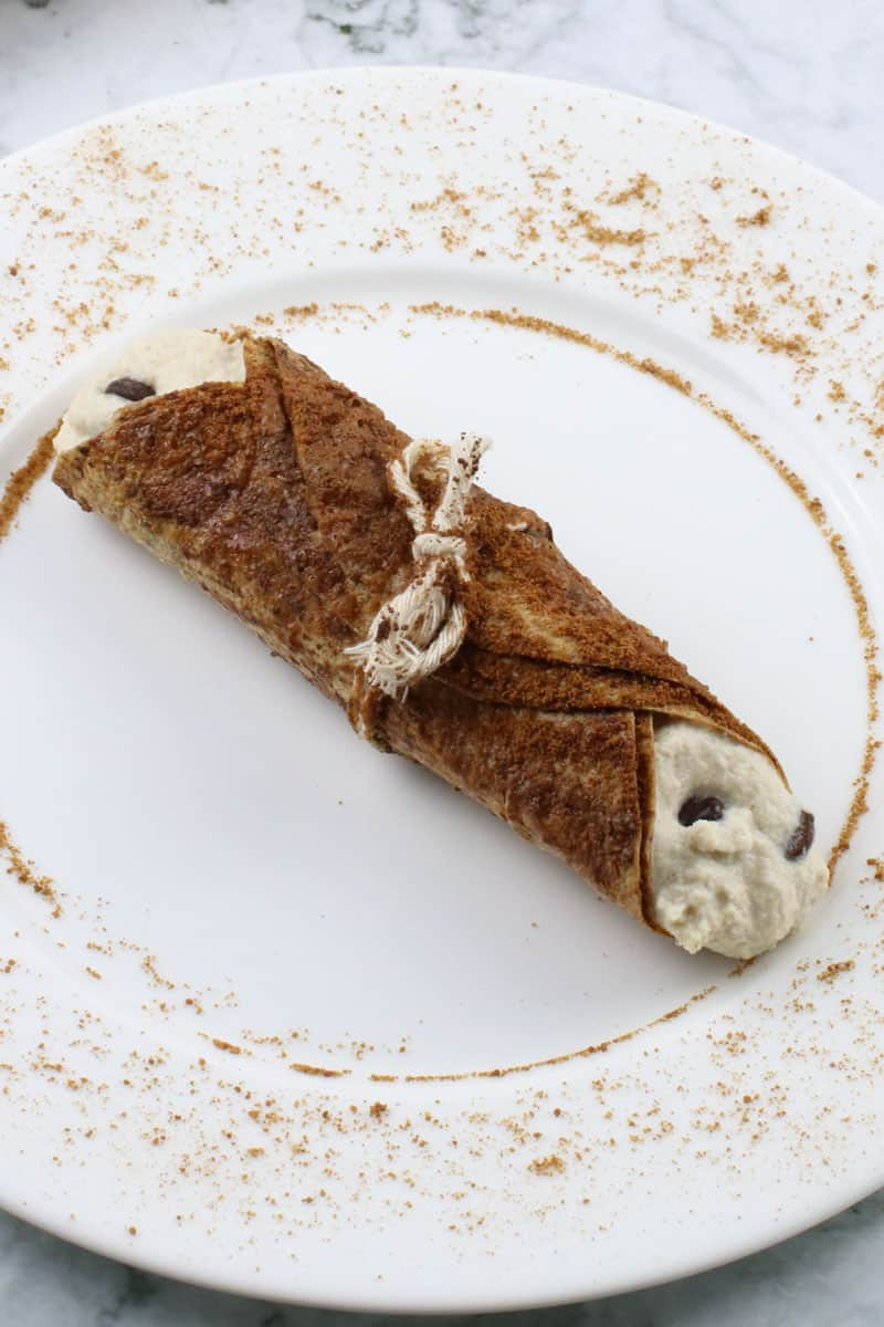 Baked Tortilla Vegan Cannolis