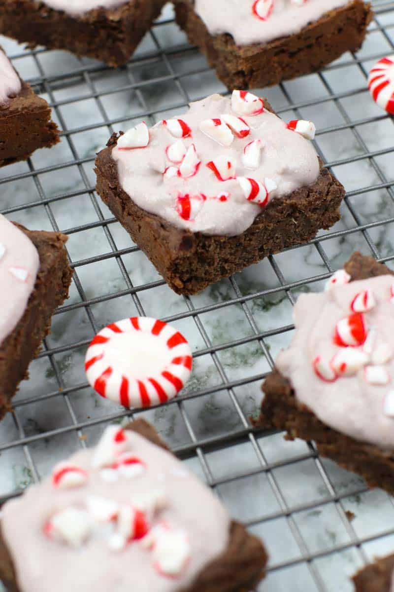 Healthy Brownies With Peppermint Frosting