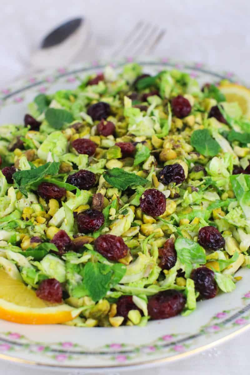 vegan brussels spouts salad