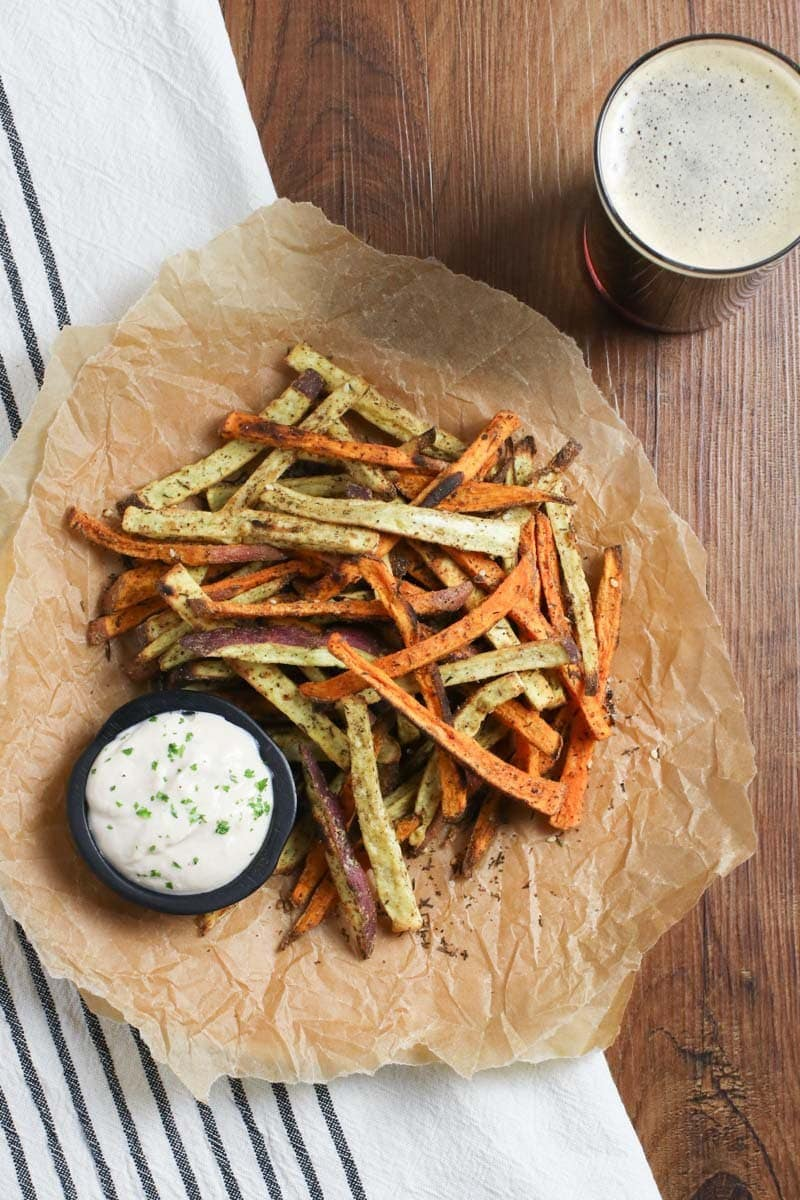 oil free sweet potato fries