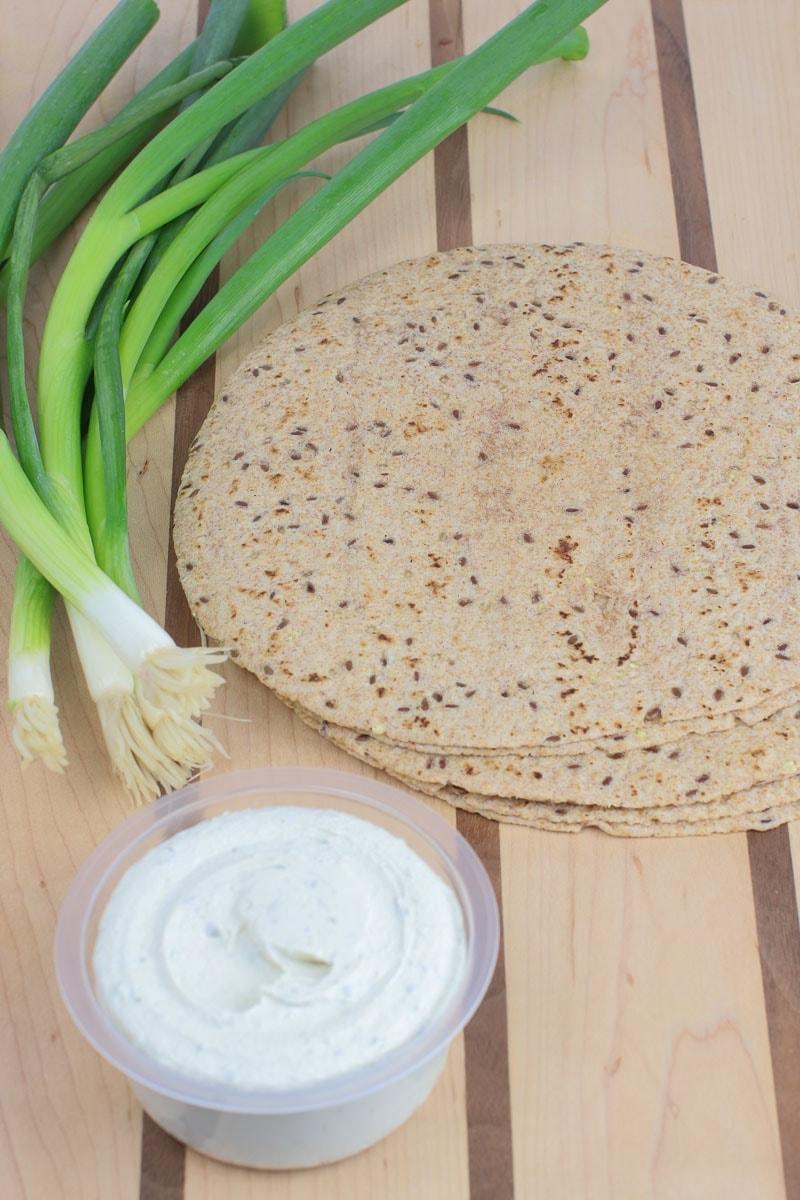 Scallion Cashew Cheese Vegan Quesadillas