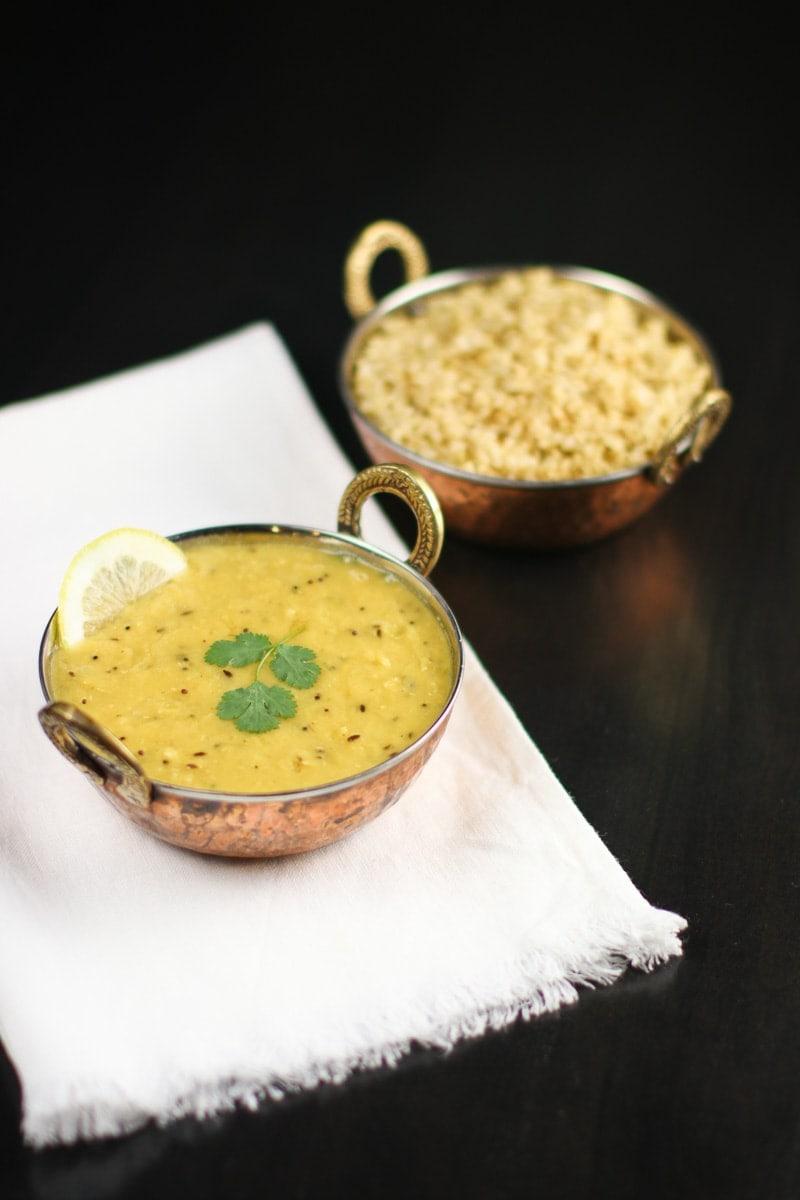 red lentil dal soup