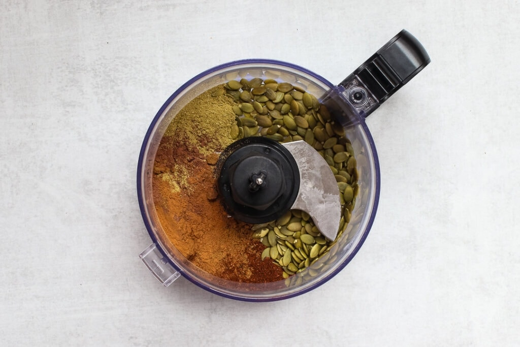 Mole dry ingredients in a food processor.